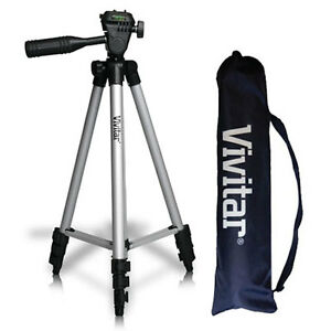 "50"" PROFESSIONAL VIVITAR TRIPOD WITH QUICK RELEASE FOR CANON EOS REBEL DSLR"