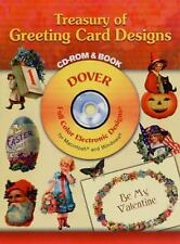 Treasury of Greeting Card Designs CD-ROM and Book Dover Electronic Clip Art