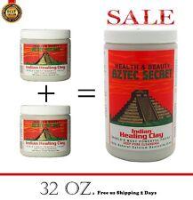 Aztec Secret Indian Healing Clay Big facial Mask 100% Natural Deep cleaning 2lbs