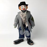 """Hobo Clown Porcelain House of Lloyd 15"""" Doll"""