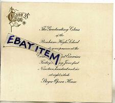 1906 GRADUATING CLASS Bonham Texas High School STEGER OPERA HOUSE Announcement