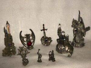 Pewter Wizard Dragon Castle Mythology Set Of 8