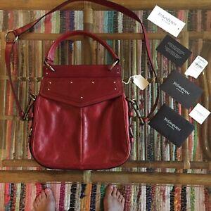 Yves Saint Laurent Red Leather Shoulder Bag