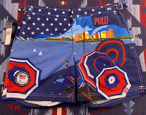 Polo Para Olympic Men Swim Trunks Board Shorts Sz 30 Ralph LAUREN 2016 Rio Sport