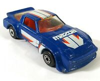 Matchbox Mazda RX7 Blue 1:56 1982 Vintage Diecast Macau D150