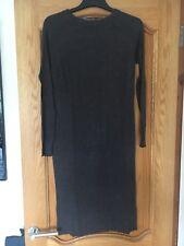ATMOSPHERE: Dark Grey Knitted Long Sleeve Midi Dress
