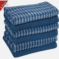 New Designer 100% Cotton  tea kitchen dish cloth towel pack of 6