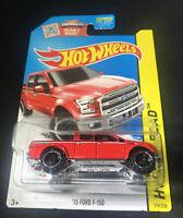 2015 Hot Wheels #119 HW Off-Road/Hot Trucks '15 FORD F-150 Red Variant VHTF