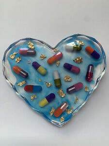 Heart Resin Pills Coaster