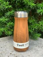 Swell stainless steel water bottle Teakwood, thermos,16 oz. (473 ml) NEW