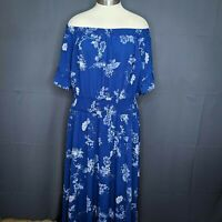 City Chic Womens Dress Plus 24W Floral Maxi Off Shoulder Sundress NEW