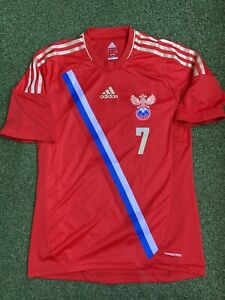 Russia National Team Match Worn Shirt Jersey Maillot Adidas #7 Denisov 2012