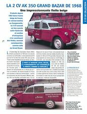2 CV Citroën AK 350 Grand Bazar Camionnette Forest 1968 Car Auto FICHE FRANCE