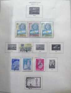 A) 1958, ARGENTINA, LOT OF 13 STAMPS, ANNIVERSARY OF THE ARGENTINE AERO CLUB, MO
