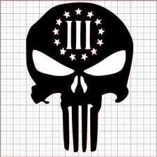 Punisher 3% III Three Percent Percenter Vinyl Decal Sticker American Skull Death