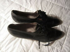 Antique - Vintage Women's Black Red Cross Shoes - Unknown Size