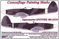 AML Models 1/32 CAMOUFLAGE PAINT MASKS SUPERMARINE SPITFIRE Mk.22/24