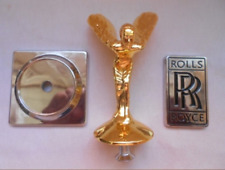 Golden Flying Angel Rolls Royce car logo + base