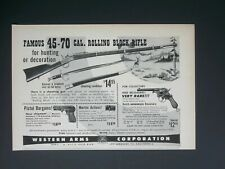 1951 Western Arms 45-70 Cal Rolling Rock Rifle Vintage Magazine Print Ad