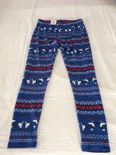 Juniors So Dachshund Holiday Blue Leggings Super Soft Size Medium