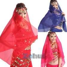 NEW Belly Dance Head Scarf Headpiece Chiffon Bead Coin Bollywood Dance Costume