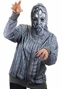 Elope Weeping Angel Full Zip-Up Hoodie Gray Multiple Sizes Halloween Face Mask