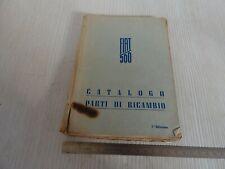 CATALOGO PARTI DI RICAMBIO ORIGINALE 1948 FIAT 500 TOPOLINO
