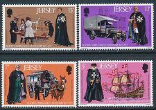 1977 JERSEY ST. JOHNS AMBULANCE CENTENARY SET OF 4 FINE MINT MNH/MUH