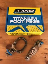 MONTESA BETA GAS-GAS SHERCO SCORPA TRS VERTIGO TRIALS TITANIUM FOOT PEGS RESTS