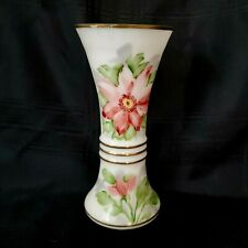 Deluxe Inc Glass Vase Handpainted Floral Flowers