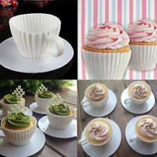 Silicone Cupcake Cup Muffin Baking Cake Saucer Teacup Mold Mould Maker