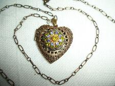 Sale LK-100-38-Ah  6pcs Antique Brass Heart Shape Locket Pendant,Nickel Free.