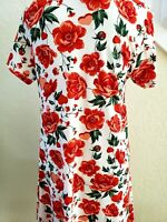 NWT LuLaRoe Jessie Pockets Dress, White, Red Pink Roses🌹 Hearts Size Small