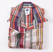 New $298 POST O'ALLS Multicolor Madras Plaid Cotton 'Engineers' Shirt M