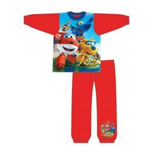 Boys Superwings Pyjamas Kids Nightwear PJs 18 Months to 5 Years Blue Dizy Cotton