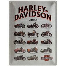 Harley Davidson Models large embossed metal sign 400mm x 300mm    (na)