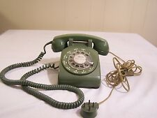 Vintage Bell System Western Electric Green Rotary Telephone Model G3