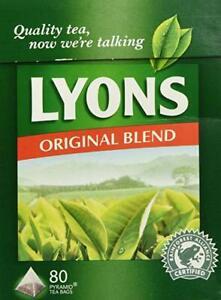 Lyons Original Irish Tea 80 Bags (Pack of 2) - Pyramid tea bags