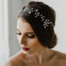 Women Bridesmaid Rhinestone Headband Handmade Bride Tiara Romantic Wedding Gift