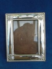 Hallmarked Sterling Silver Solid Modern Photo Frame Small Sheffield 1995