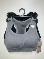 Padded 2 Pack High Impact Seamless Sports Bra Active Wear / Work Out,Gym &Yoga,