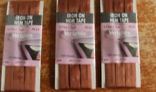New 3 packs wrights SPICE  iron on hem tape