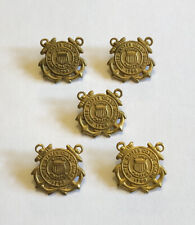 Uscg Us Coast Guard Spars Screw Back Collar Badges Insignia (5) - Vintage 1940s