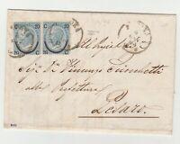 STORIA POSTALE - 1865 REGNO C.20 SU 15 III° TIPO 2 VALORI SU LETTERA E/2949