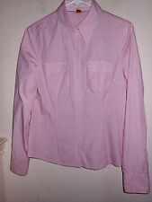 EUC Esprit size 8 PINK Button Front Career blouse/SHIRT EUC!