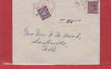 War Issue postage due cover Tied Sackville N.B. 2c Canada cover