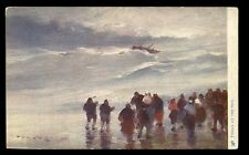 Sea Perils artist drawn Professor Van Hier Tuck 2573 Vintage u/b PPC gold edged