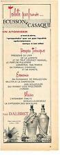 PUBLICITE ADVERTISING   1955  JEAN D'ALBRET  ECUSSON & CASAQUE  parfums