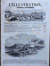 L'ILLUSTRATION 1845 N 123  L'INCENDIE DE LA VILLE DE QUEBEC LE 28 MAI 1845