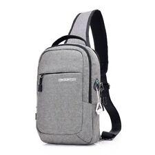 Men Chest Bag Canvas Single Shoulder Strap Back Bag Fashion Man Crossbody Bags